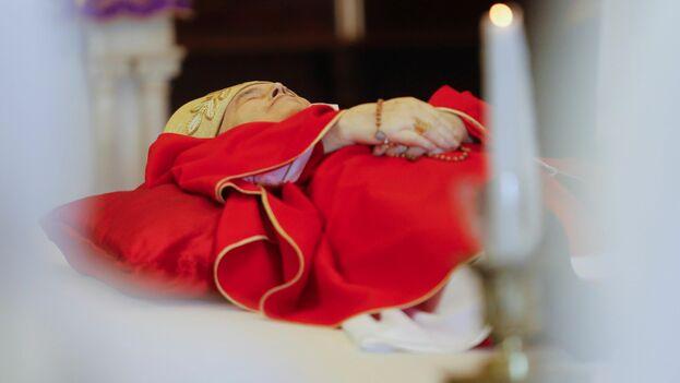 Los restos mortales del cardenal Ortega serán velados hasta el domingo en la tarde. (EFE)