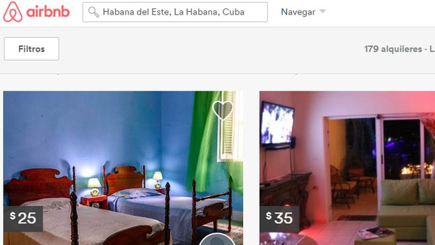 La página web Airbnb ofrece alojamientos particulares en todo el mundo.
