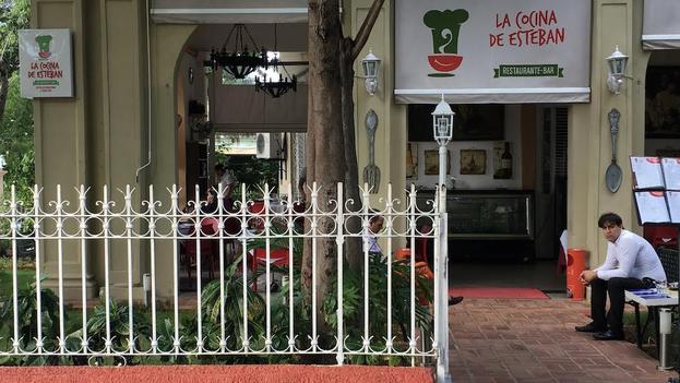 La paladar La cocina de Esteban en el Vedado, La Habana. (14ymedio)