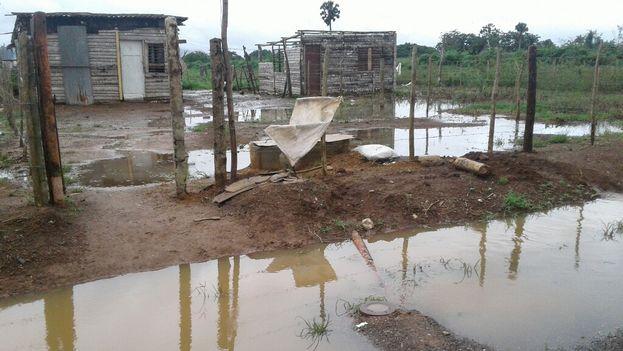 En la periferia de Candelaria se encuentran los mayores daños dejados por las lluvias en cultivos y viviendas,. (14ymedio)