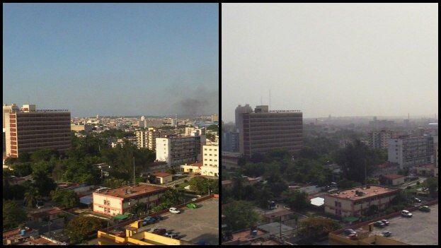 La nube de polvo africano se percibe desde este miércoles en La Habana. (14ymedio)