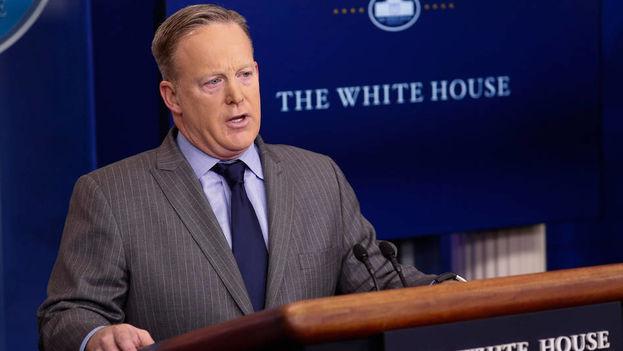 El portavoz oficial de la Casa Blanca, Sean Spicer. (EFE)