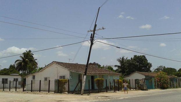 El poste de Taguayabón. (14ymedio)