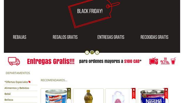 Las web de venta de productos con envíos a Cuba tratan de motivar a los usuarios a que se sumen al Black Friday. (Captura)