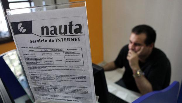 El servicio Nauta continúa entre los peores del monopolio estatal de comunicaciones. (EFE)