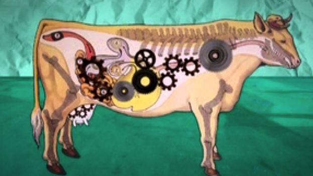 Ilustración de una vaca. (14ymedio)
