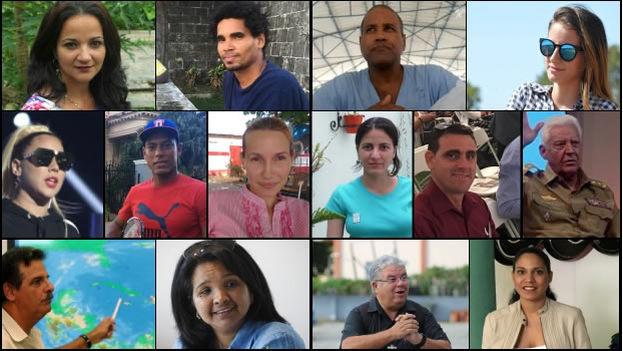Estos 14 cubanos, más allá de valoraciones sobre lo positivo o negativo de su accionar, conforman el gran rostro común de la compleja Cuba de 2017. (14ymedio)