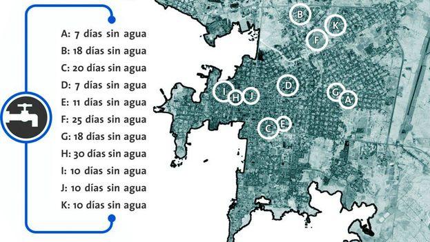 Algunas zonas de la ciudad llevan hasta 30 días sin agua. (5 de Septiembre)