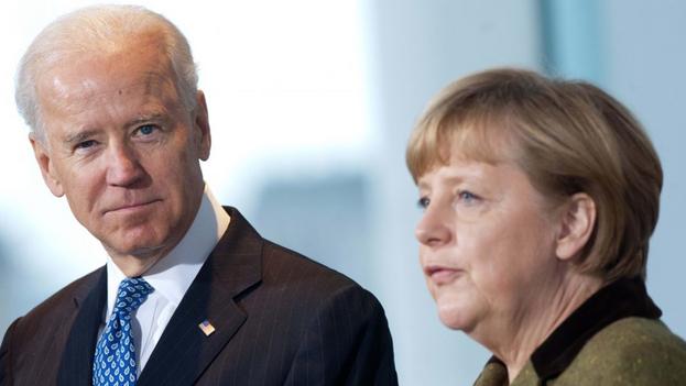 Ante la victoria de Joe Biden, la canciller de Alemania Angela Merkel, por medio de Heiko Maas, su ministro de Relaciones Exteriores, mostró su enorme satisfacción. (EFE)