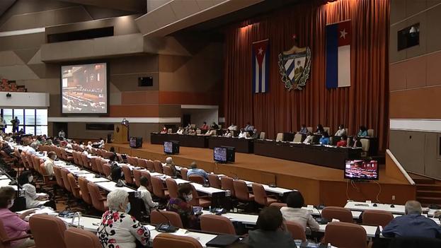 Reunión este lunes de la Asamblea Nacional del Poder Popular durante el V Período Ordinario de Sesiones. (Captura)