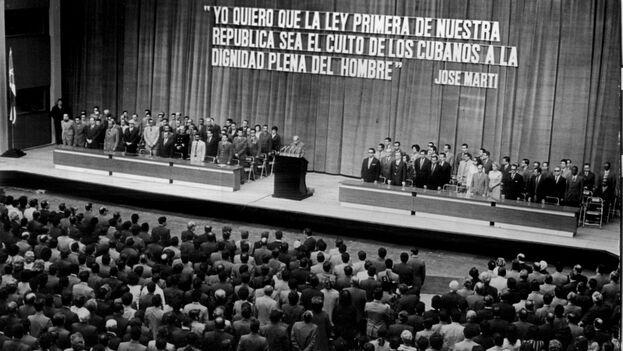 Sesión de la Asamblea Nacional, el 28 de junio de 1978, sobre la Primera Reforma a la Constitución de 1976. (ACN)