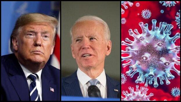 Si las elecciones fueran hoy ganaría Joe Biden, porque ni Donald Trump (ni ningún otro presidente) podía enfrentar la devastación del virus en Estados Unidos. (Collage)