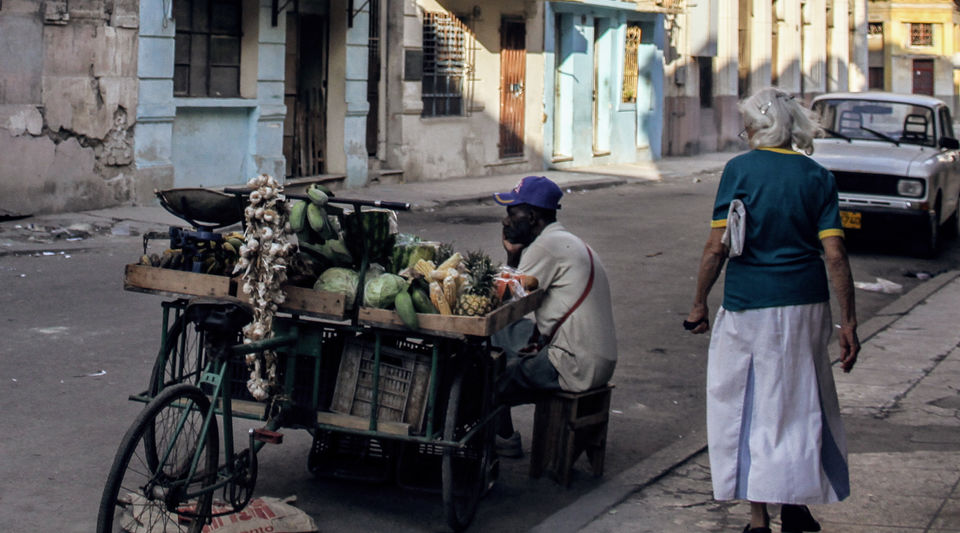 Carretillero en La Habana