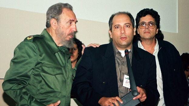 Fidel Castro, Alpidio Alonso y Abel Prieto. (La Jiribilla)