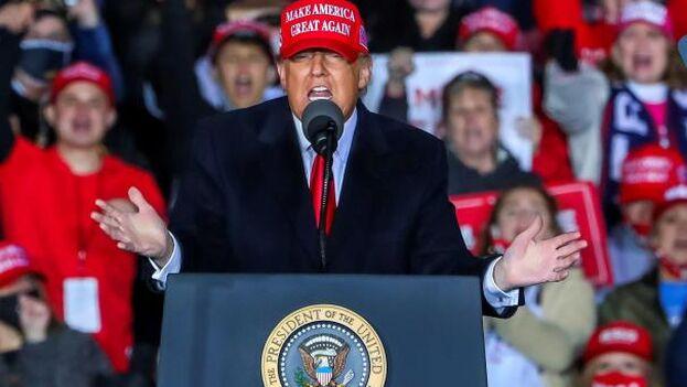 Donald Trump ha convencido a muchos votantes nacionalistas con su lema Make American Great Again. (EFE)