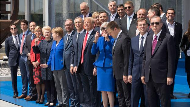 Donald Trump asistió a la última cumbre de la OTAN, otro de los organismos en los que se siente incómodo. (NATO)