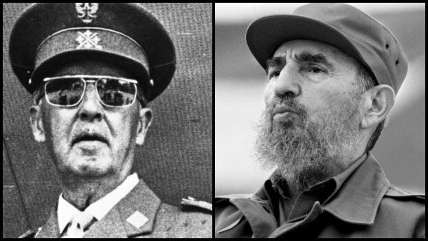 Fidel Castro decretó luto por la muerte de Francisco Franco.