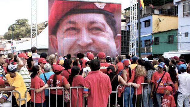 Homenaje al fallecido presidente Hugo Chávez en Venezuela. (EFE)