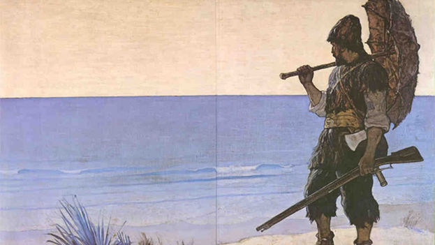Ilustración de Robinson Crusoe