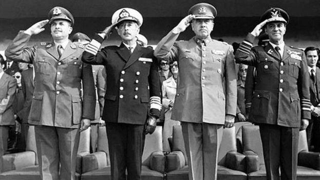 Miembros de la Junta militar que derrocó a Salvador Allende el 11 de septiembre de 1973. (Archivo Biblioteca del Congreso Nacional de Chile/ CC)