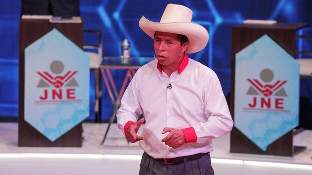 El candidato a la Presidencia de Perú por el partido Perú Libre, Pedro Castillo. (EFE/Sebastian Castañeda/Archivo)