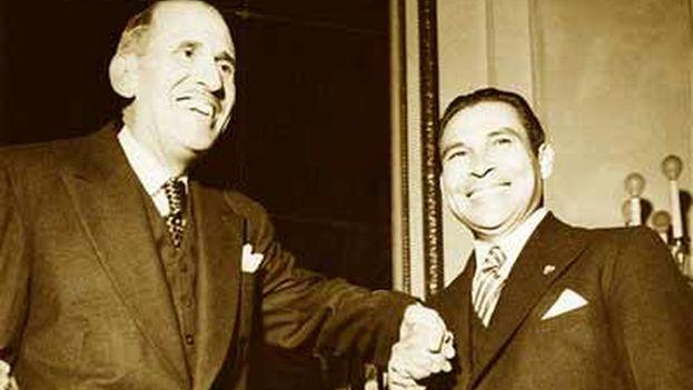 Ramón Grau San Martín y Fulgencio Batista