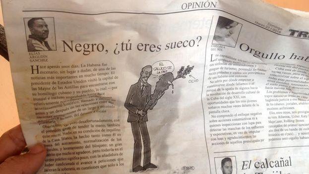 Página de la Tribuna de La Habana con el artículo de Victor Fowler Calzada. (14ymedio)