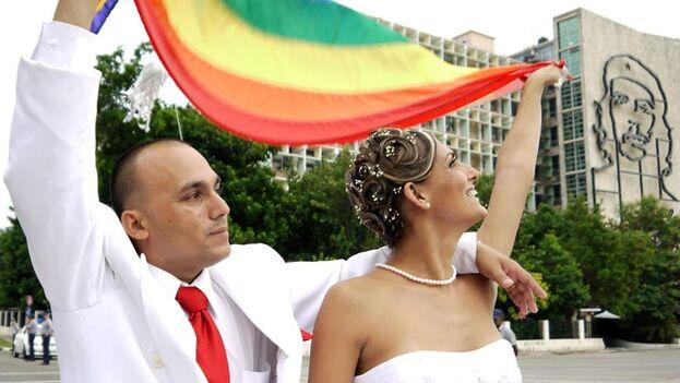 Wendy Iriepa e Ignacio Estrada el día de su boda. (14ymedio)