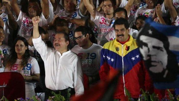 El aniversario de la revolución sandinista, celebrado el pasado 20 de julio, se convirtió en un acto de apoyo a Maduro. (EFE)