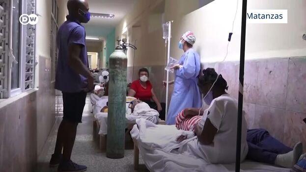 El brote de covid-19 en la provincia de Matanzas ha llevado al límite al sistema sanitario cubano. (Captura)