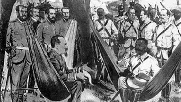 El encuentro entre ambos generales, el español y el mambí, tuvo lugar el 15 de marzo de 1878 en un remoto punto de la geografía rural de Cuba.