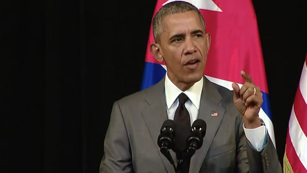 """Los pobres cubanos han sido víctimas de múltiples engaños. Primero, les tomó el pelo Barack Obama cuando dijo (...) que no haría ninguna concesión al régimen cubano"""". (Captura)"""