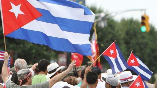 La oposición cubana marcha unida durante la Cumbre de las Américas