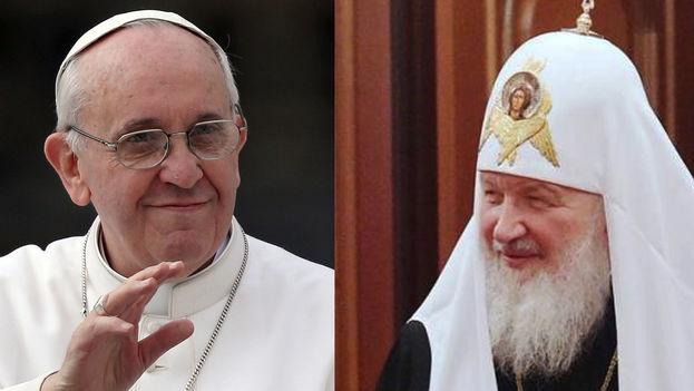 Los líderes actuales de las iglesias católica y ortodoxa, Francisco y Kiril, se encuentran en Cuba. (14ymedio)