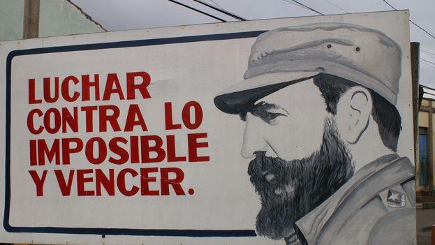 Cartel de Fidel Castro.