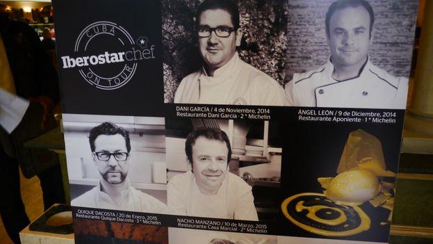 Cartel del evento Iberostarchef on tour en La Habana. (14ymedio)