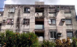Edificio en que vive la familia Gálvez. (14ymedio)