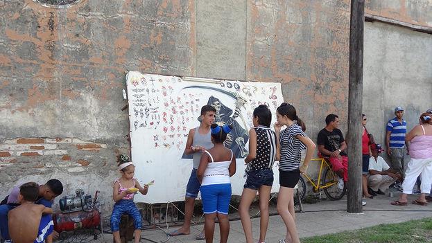 Las calles de Camagüey durante los festejos.