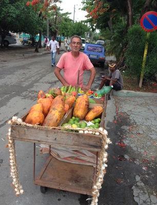 El azaroso negocio de la venta ambulante de productos del agro. (14ymedio)
