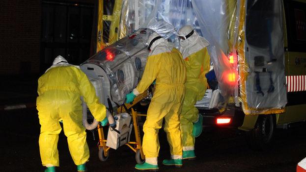 La repatrición del religioso enfermo de ébola Manuel García Viejo. (Hospital La Paz)
