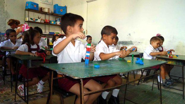 Aula de preescolar de una escuela primaria en Holguín. (Fernando Donate)