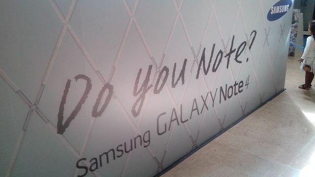 Cartel publicitario de Samsung