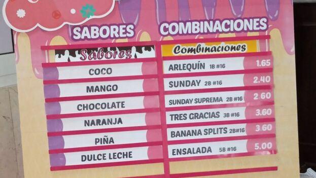 La oferta en Coppelia ha aumentado notablemente con la visita del presidente Díaz-Canel. (14ymedio)