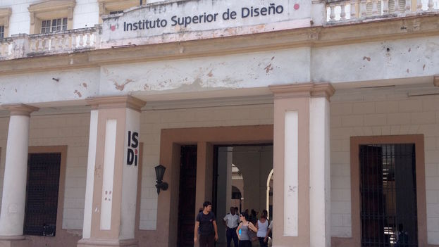 Fachada del Instituto Superior de Diseño, en La Habana. (14ymedio)