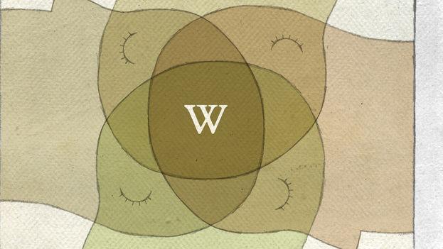 Fragmento de la ilustración 'La Wikipedia cumple años'. (Wearbeard/CC)