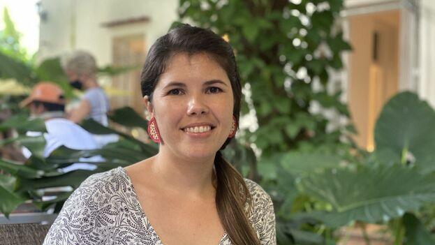 Gretel Bormey ha visto en Amarillo Coworking una gran oportunidad para ponerse en contacto con otros emprendedores y posibles clientes. (14ymedio)