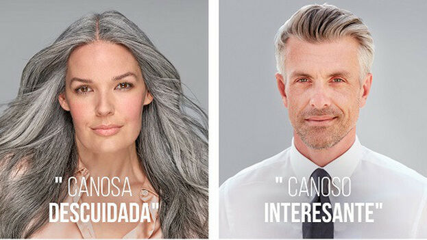 Hace varias semanas, una campaña de publicidad ponía el foco en el trato desigual entre mujeres y hombres que lucen canas. (Pantene)