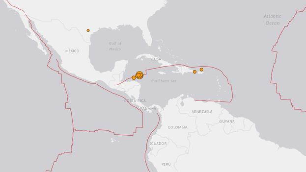 Imagen del área afectada por el terremoto del Servicio Geológico de Estados Unidos. (Captura)
