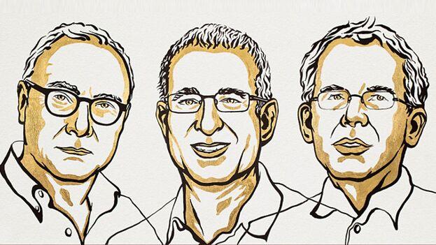 David Card, Joshua Angrist y Guido Imbens comparten el último galardón de los conocidos este 2021. (Nobel Prize)