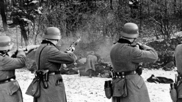 Masacre de civiles polacos durante la ocupación nazi en 1939. (Wikipedia)